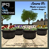 PIXEL CREATIONS - EVORA V3 PLANTER W PANSIES TEXTURECHANGE pic2