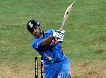 Dhoni's winning shot at the 2011 World Cup final