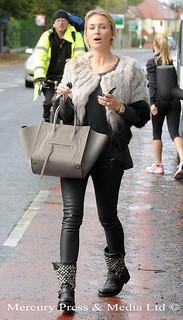 Alex Curran Studded Biker Boots Celebrity Style Women's Fashion