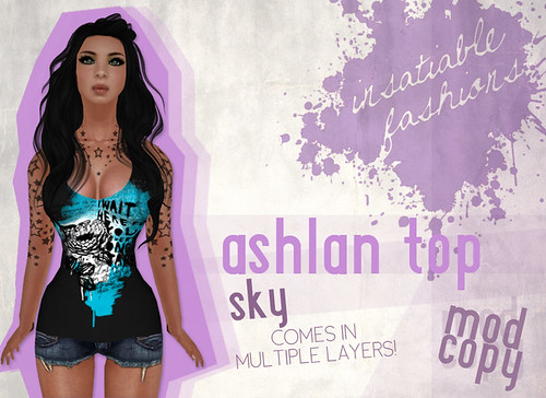 [IF] Thrift Shop Item: Ashlan Top in Sky - Tango Appliers available separately!