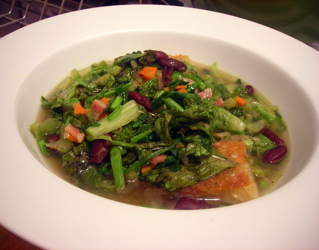 Minestra di lattuga (Lettuce and watercress soup)