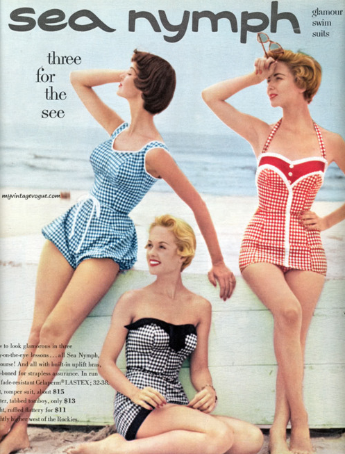 blog wanderlust whimsy megan vintage retro 50s bathing suit