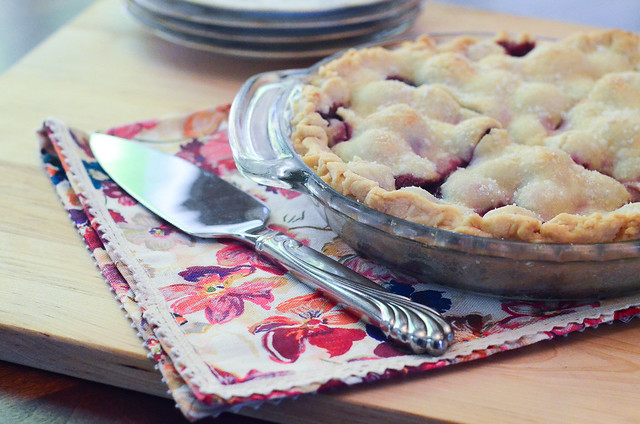 The completed cherry pie.