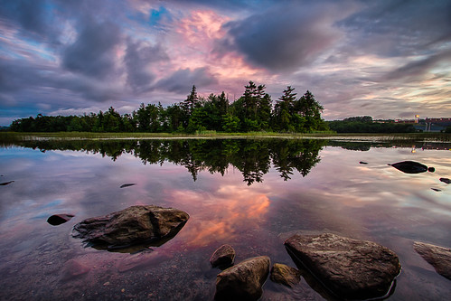 dartmouth landscape ns novascotia reflection shubie shubiepark sunset trees water clouds canada