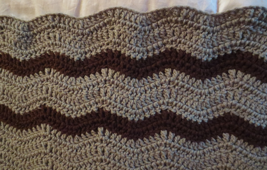 Wavy Ripple Lapghan Pattern My Recycled Bags