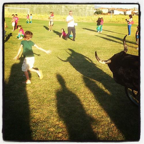 #encierros #infantiles #toro #Bull #Boceguillas #Segovia
