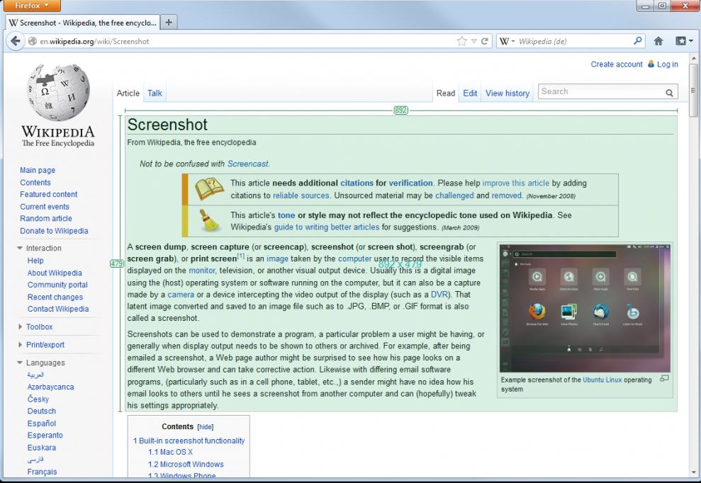 Free photography and image editing softwares - Greenshot