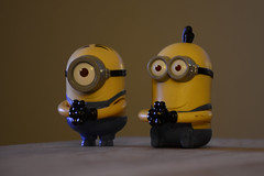 Minions begging for bananas