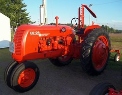 Co-Op E-3 Tractor With Sickle Bar Mower.