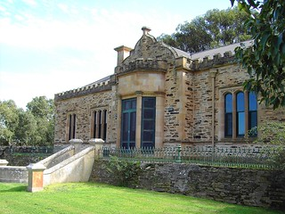 Gothic facade of Holland House built in 1854 in the Barossa Valley near Rosedale South Australia.