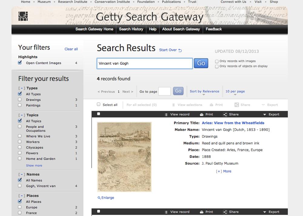Getty Search Gateway 2