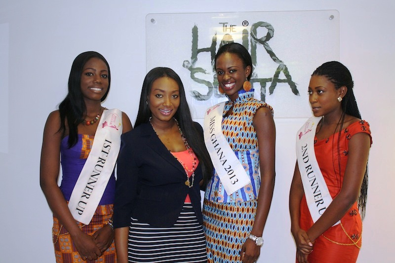 Miss Ghana 2013 winners visit Hair Senta (5)
