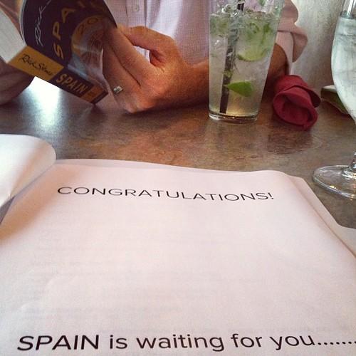 I totally cried. #10yearanniversary #SPAIN!!