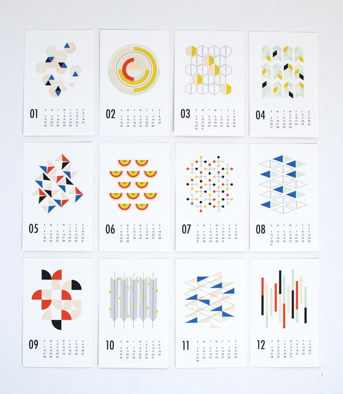 2014 shapes calendar