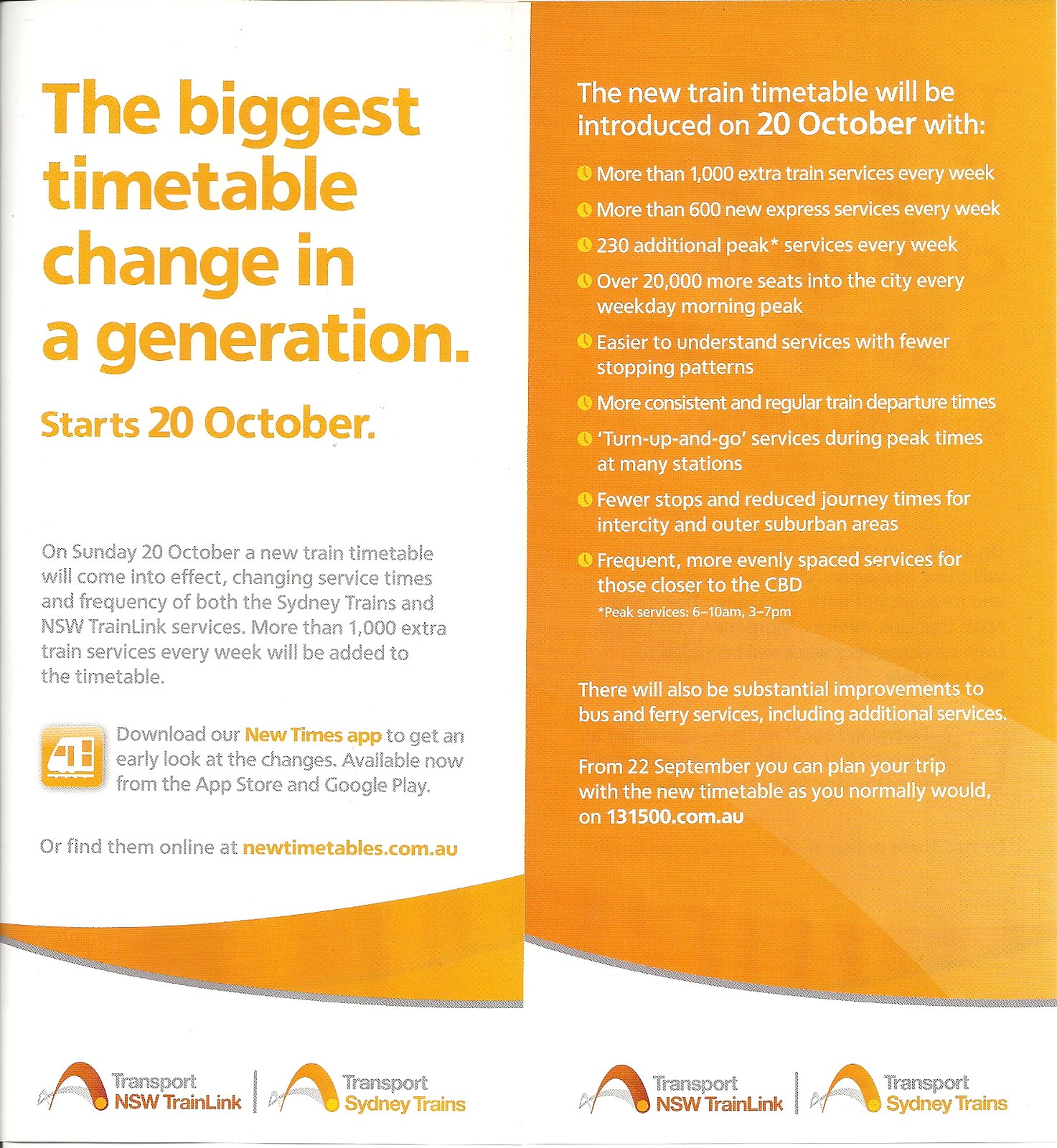 October 2013 Timetable Flyer by abesty92
