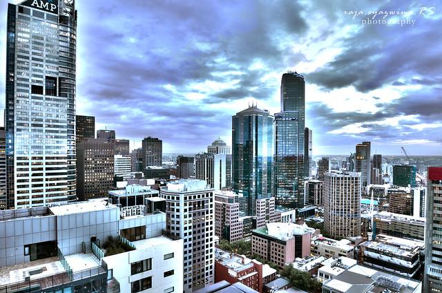 Melbourne Skyline HDR