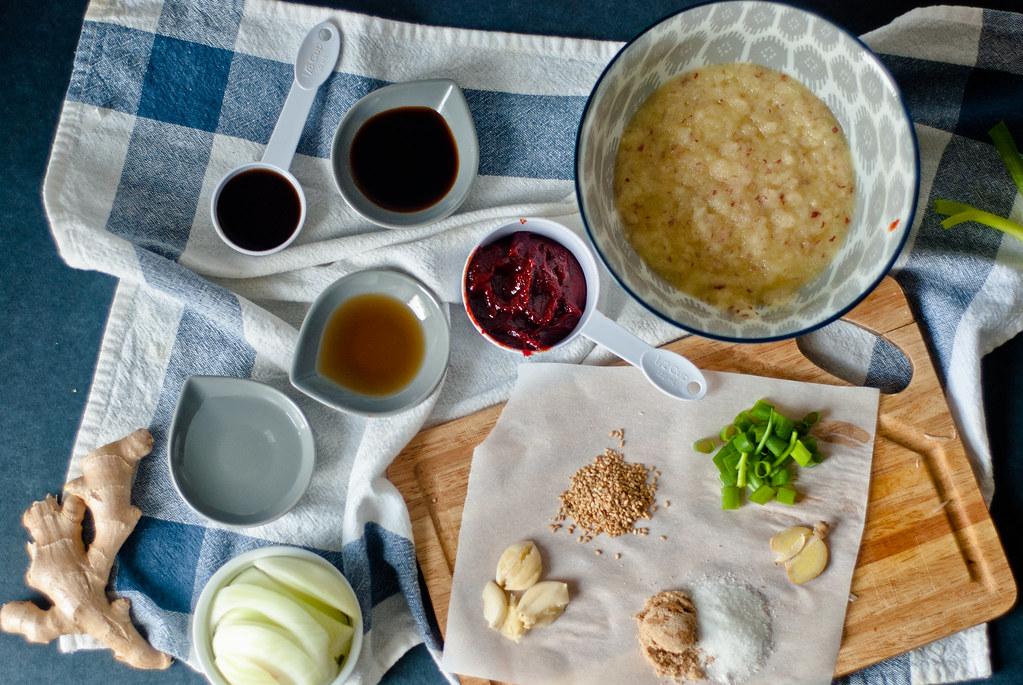 pork bulgogi mise en place