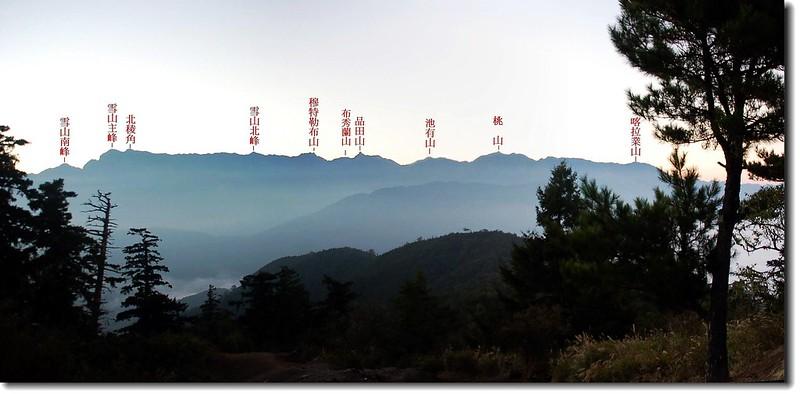 雪山山脈(From 松風嶺) 2