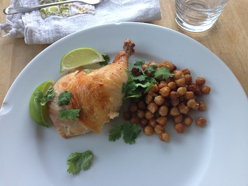 roasted chicken with chickpeas