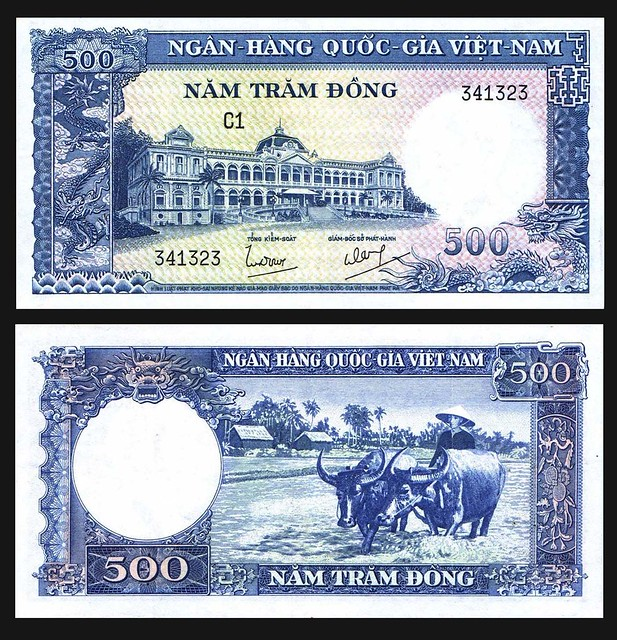 1962 South Vietnam 500 Dong