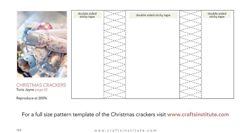 Christmas cracker template from Making Magazine