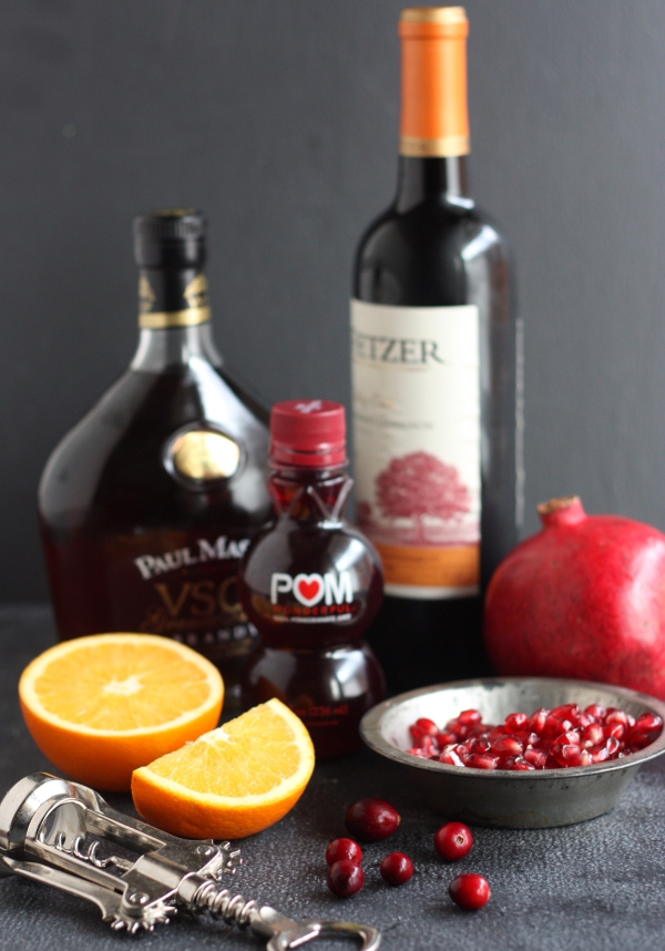 Pomegranate and Orange Sangria