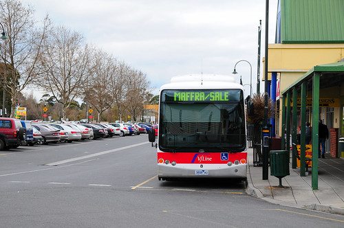 V/Bus outside Traralgon Station