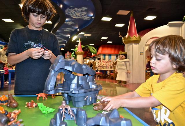 Playmobil fun park, west palm beach - hard at work