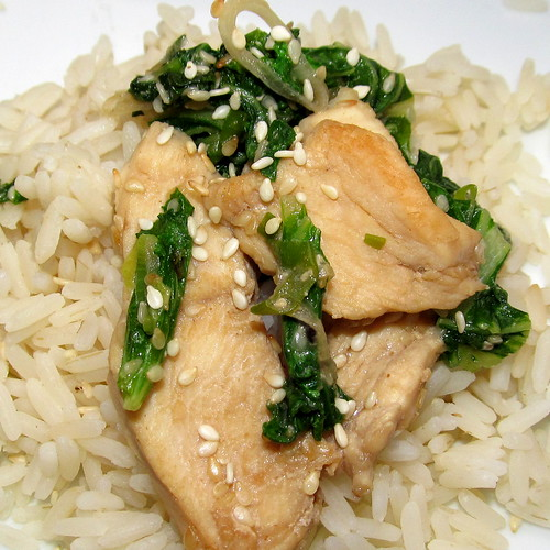 Chicken with sesame