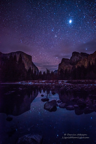 Yosemite Valley by Starlight