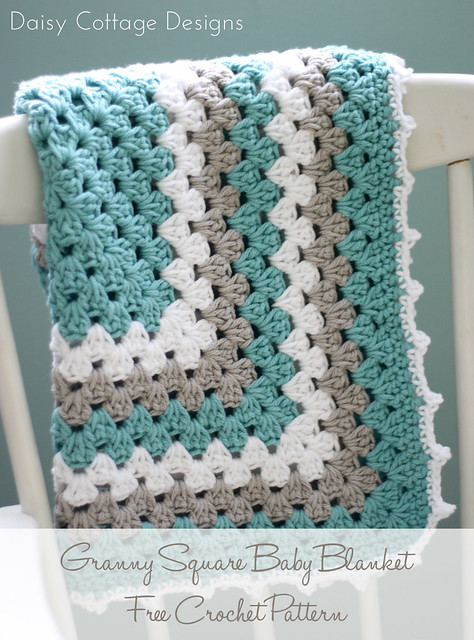 Baby Love Blanket Free Crochet Pattern : Free Crochet Patterns {Granny Square Baby Blanket} - Daisy ...