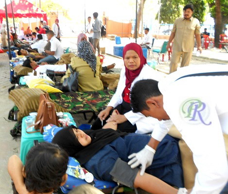 Peringati HUT, PMI Aceh Utara Gelar Donor Darah