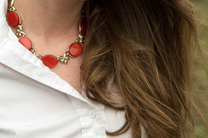 Vintage, necklace, costume jewelry, red, never fully dressed, withoutastyle,
