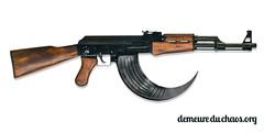 handgun(0.0), assault rifle(1.0), trigger(1.0), weapon(1.0), rifle(1.0), machine gun(1.0), firearm(1.0), gun(1.0), gun barrel(1.0),