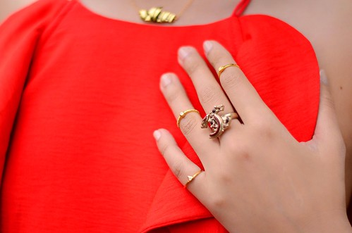 18k gold plated silver midi rings