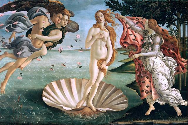 Boticelli, el nacimiento de Venus, 1485, de  Venus