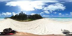 Bellows Field Beach Park, Waimanalo Bay, Oahu, Hawaii - a  360° degree Equirectangular VR