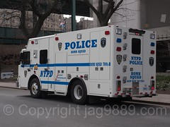 NYPD Police Bomb Squad Truck at Yankee Stadium, The Bronx, New York City