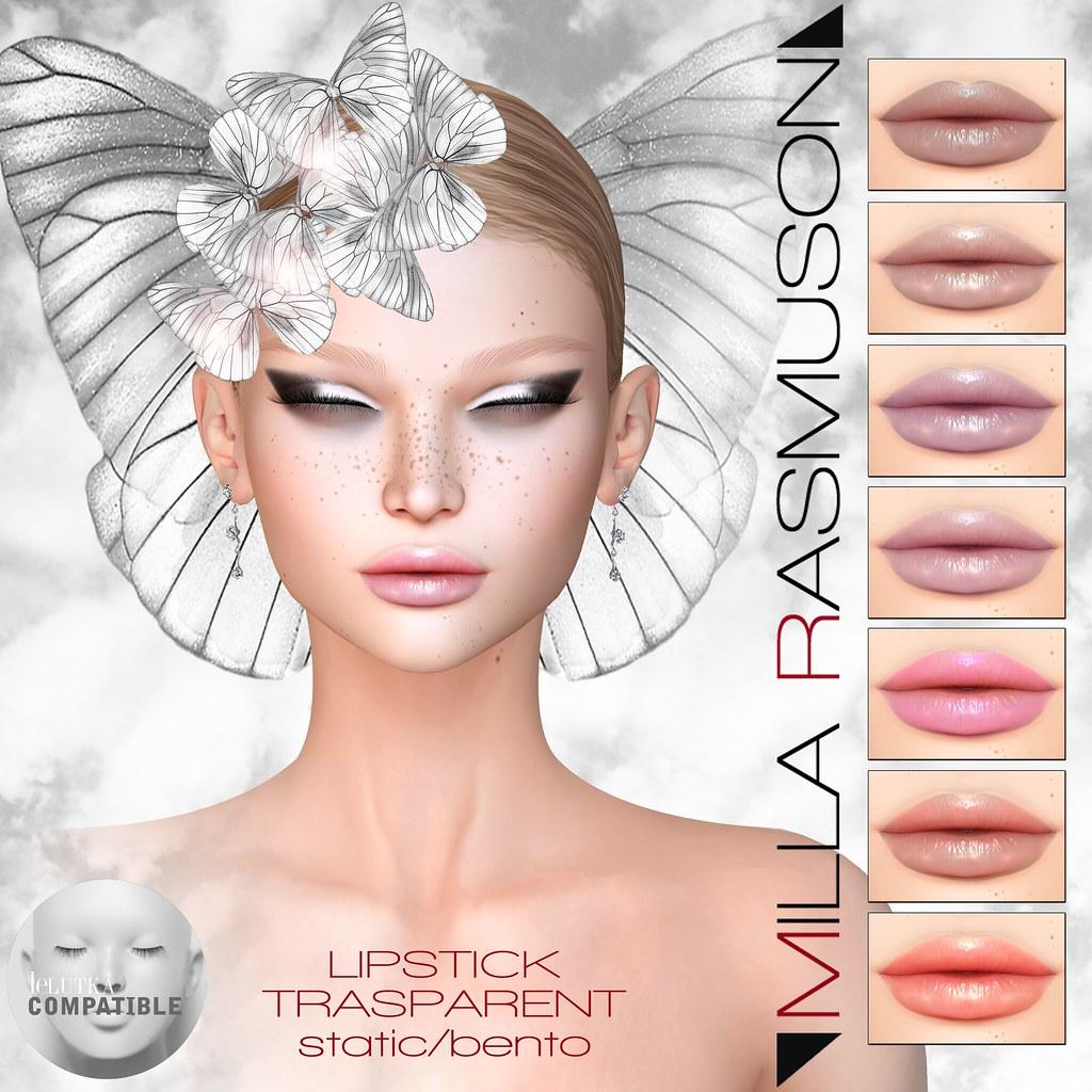"MRM ""Trasparent"" lipstick Lelutka - SecondLifeHub.com"