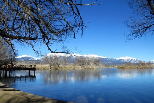 lake swa sawatch mountains salida colorado statewildlifearea winter snow