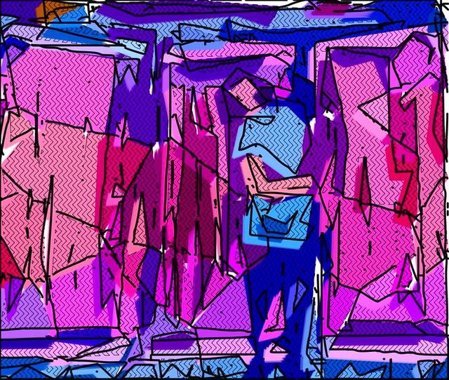 digitally painted video stills