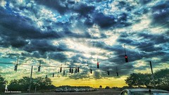 Just some #mobilephotography  during the morning drive. Pretty interesting sky at this time.  This is at the corner of Curlew and  McMullen Booth in Palm Harbor, Florida. . ▫▫▫▫▫▫▫▫▫▫▫▫▫▫▫▫▫ . #sunshine #early #weather  #instasky #sky #earlybird #motherna