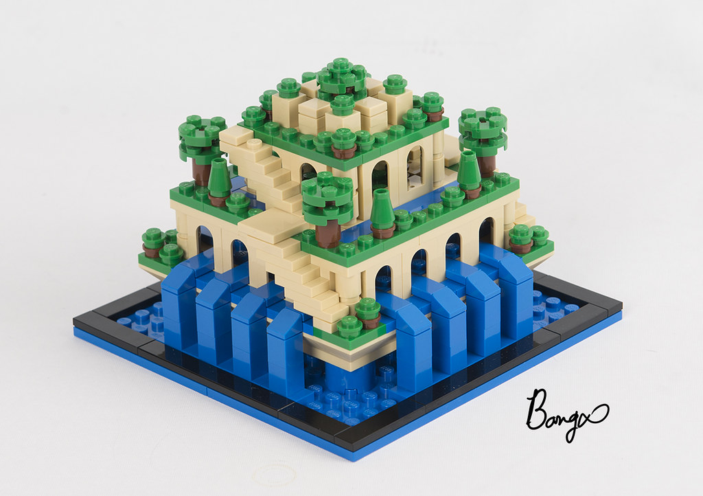 hanging gardens of babylon (custom built Lego model)