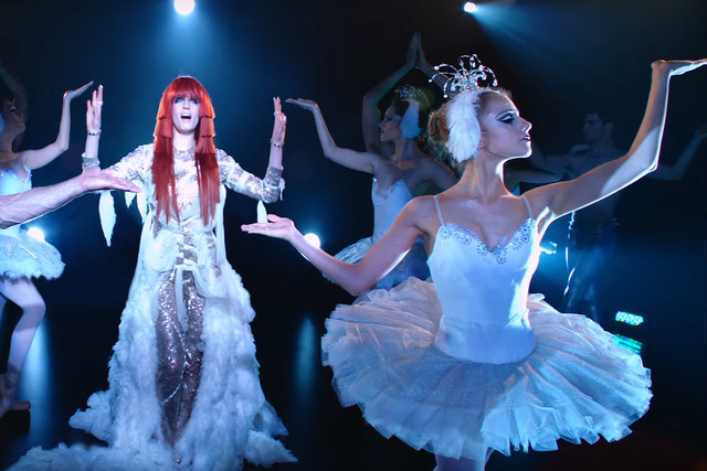 Screenshot from Florence + The Machine's Spectrum music video