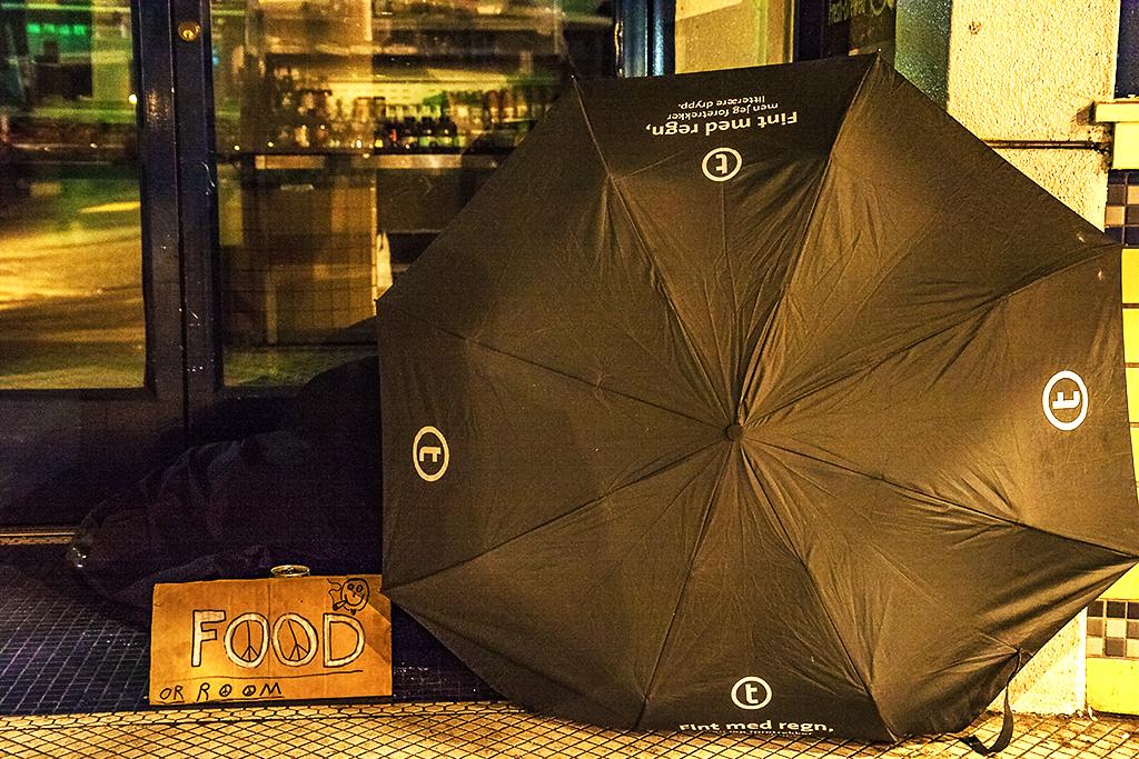 FOOD-OR-ROOM-sign-and-black-umbrella--Berkeley
