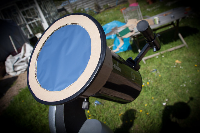 Solar Filter on Skywatcher 127