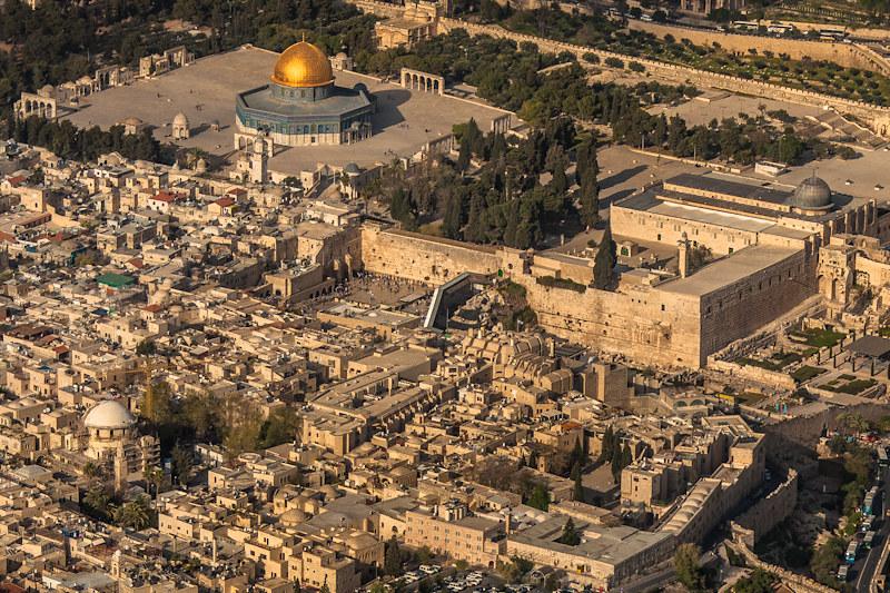 Vista aérea del Monte del Templo