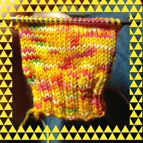 And here is how the yarn is knitting up... It reminds me of those delicious fruit salad lollies!