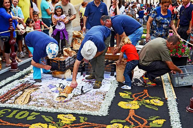 Family Work, Corpus Christi, Flower Carpets, La Orotava, Tenerife
