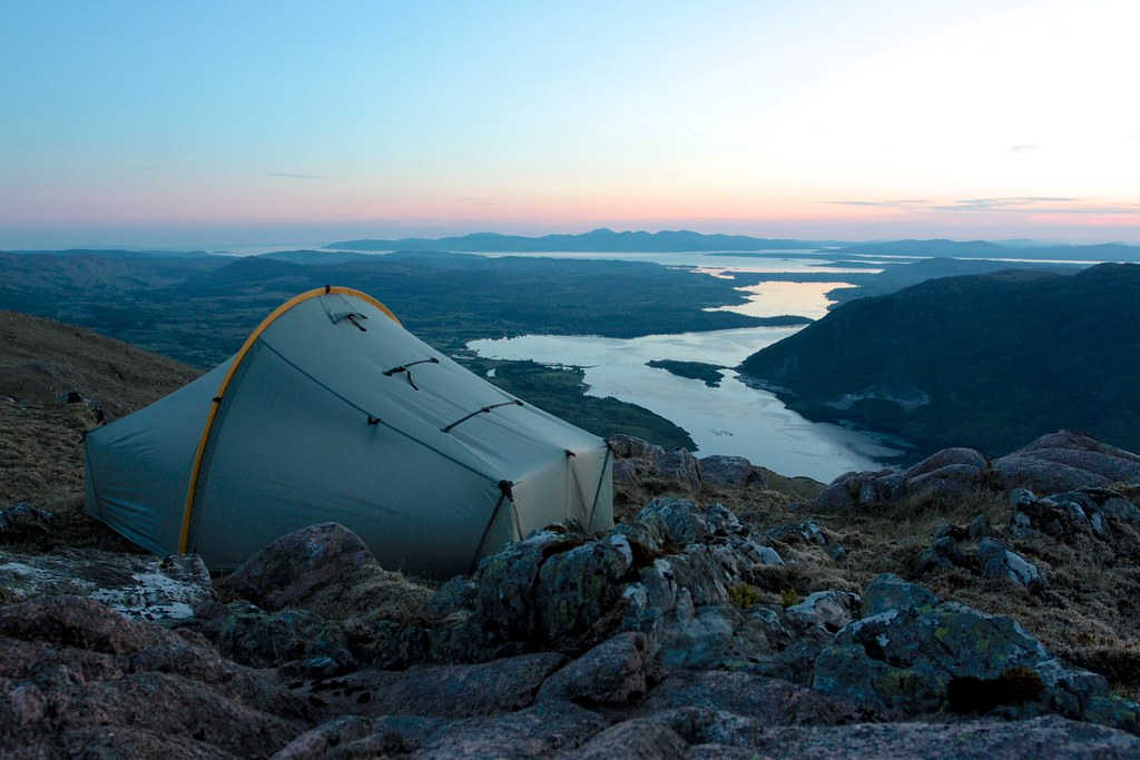 Wild camping with views to Mull